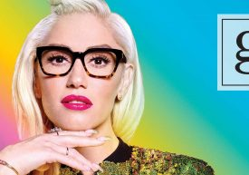 gx by Gwen Stefani banner with frames and rainbow background