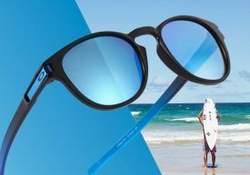 Oakley frames with surfer background