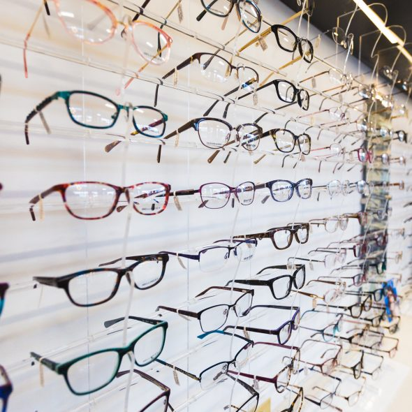 Royal Oak Optometry eyeglass frame selection display