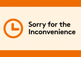 Sorry for the inconvenience banner