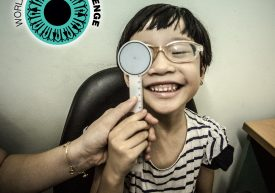 World Sight Day Challenge – picture of a child getting an eye exam