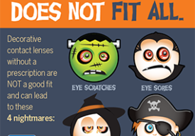 Halloween contact lens safety infographic